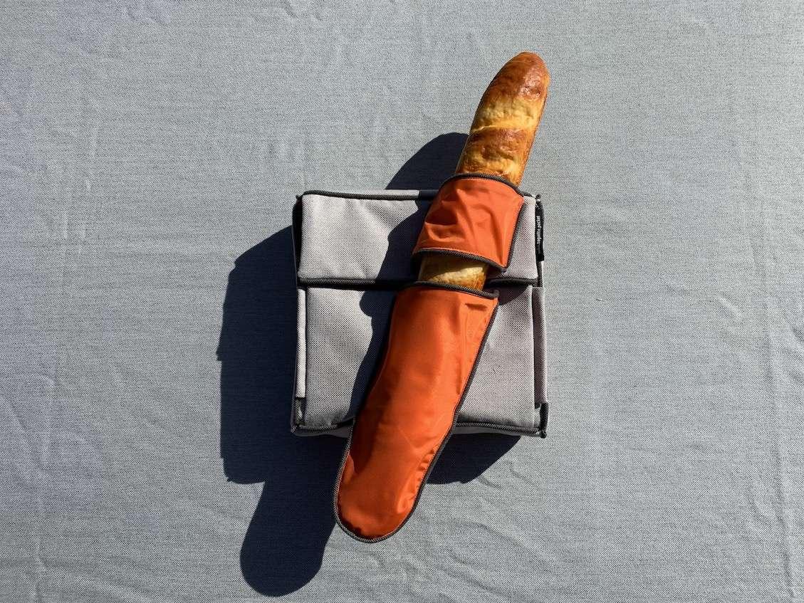 Picknicktrasche suba.baguette.pocket.silvergrey mit Baguette