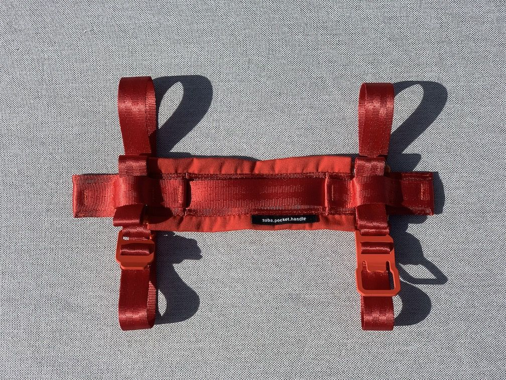 Tragegriff suba.pocket.handle.red in Rot