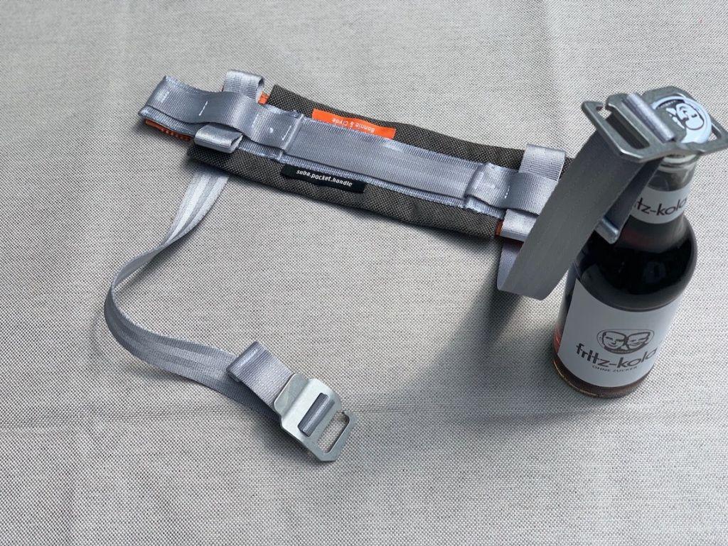 Tragegriff Handgriff für Picknickzubehör suba.pocket.handle.silvergrey001